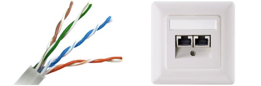 dra nätverkskabel i hus